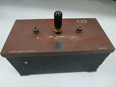 Capacitor Box 1/3 mF Vintage Physics Electronics Lab Apparatus Gambrell