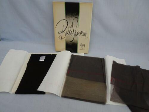 2 pr Vintage 50s Belle Sharmeer Seamless Nylon Stockings Size 9.5 - 10.5 in Box