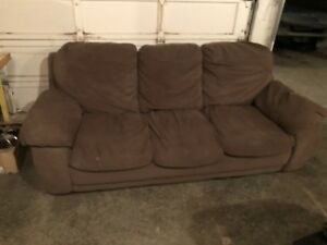 Brown Fabric Couch (No Rips or Tears)
