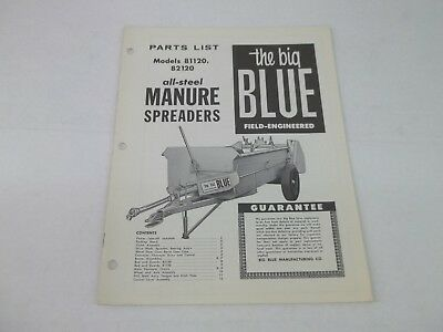 Ford All Steel Manure Spreaders 81120 82120 Parts List