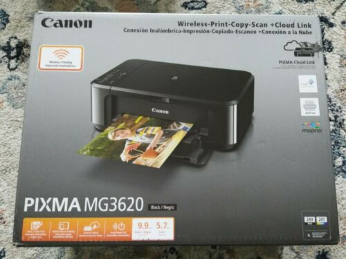 Canon PIXMA MG3620 Inkjet All-In-One Printer BLACK SEALED READY TO SHIP