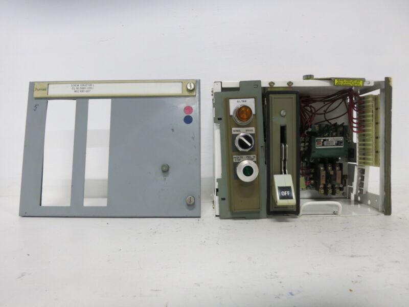 "Siemens Tiastar Furnas System 89 Size 1 Starter 30 Amp Fused 12"" MCC MCCB Bucket"