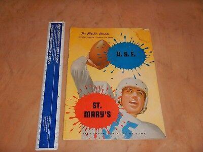 1949 UNIVERSITY OF SAN FRANCISCO VS SAINT MARY'S COLLEGE FOOTBALL PROGRAM