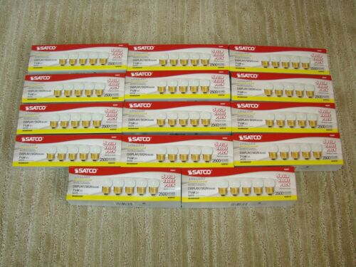 Satco S11 Display/Sign Incandescent 7 1/2W White Bulbs - 14 5 Packs - 70 Bulbs