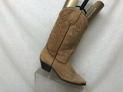 Acme Brown Leather Cowboy Western Boots Womens Size 6 M Style 10712