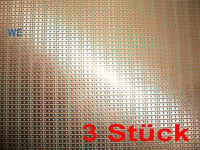 3 Stück Leiterplatte Platine 100x50mm RM2,54 3er-Punkt/Streifen