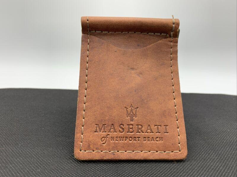 Maserati Saddle Leather Money Clip Authentic