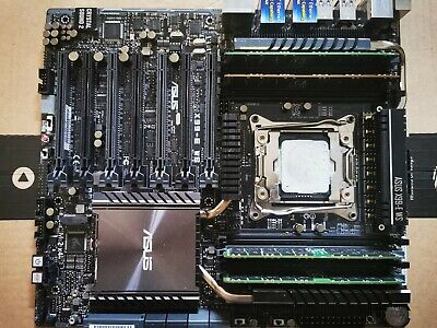 ASUS X99-E WS Server Workstation & i7 5960X CPU & 64GBECC RAM Support 4-way x16
