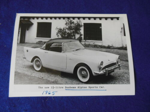 "Original 1965 Rootes Sunbeam Alpine ""New 1.5 Litre"" Press Photo"