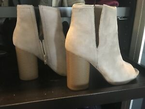 Beige Suede Booties from Vici size 9