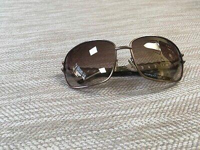 John Richmond brown metal frame sunglasses chain temple tinted lens