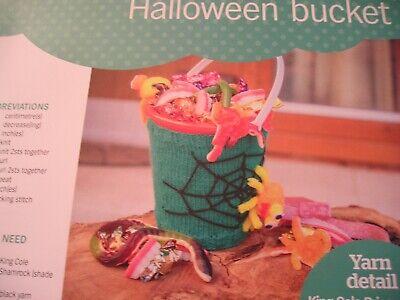 KNITTING PATTERN FOR HALLOWEEN BUCKET COVER.](Halloween Bucket Crafts)