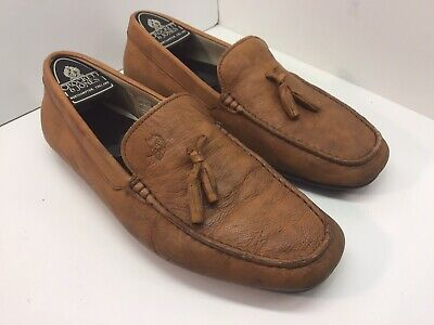 Jeffery West Brown Suede Tasseled Loafers / UK Size 8 / Driving Shoes / VGC