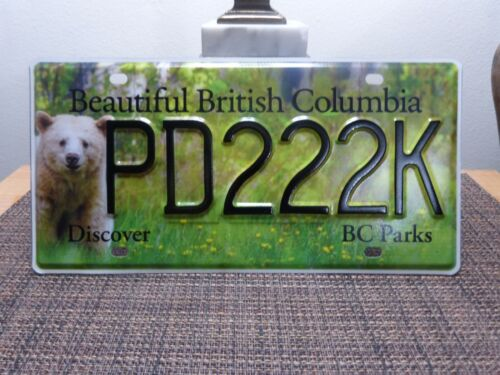 BRITISH COLUMBIA LICENSE PLATE KERMODE BEAR - COLUMBIA PARKS-WILDLIFE