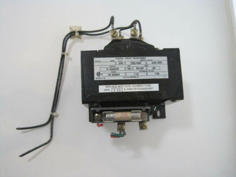 Allen Bradley X-326539 Control Circuit Transformer 50/60 Hz 240/480 V .25KVA