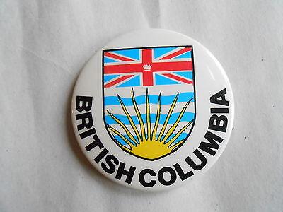 Cool Vintage British Columbia Canada Coat of Arms Canadian Souvenir Pinback