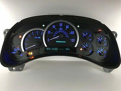03 04 05 Escalade Speedometer Instrument Gauge Cluster with Blue LEDs