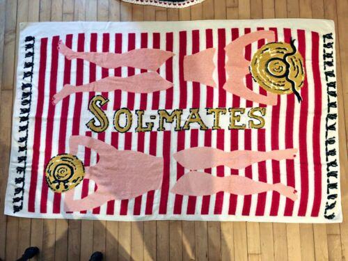 Vintage Sol-mates Beach Towel Bikini Sunbathing