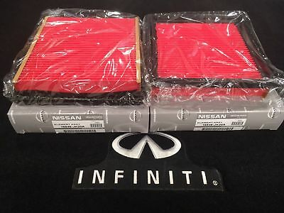 ORIGINAL NISSAN/INFINITI Set of 2 Engine Air Filter 16546JK20A EX35 G37 Q60 370Z