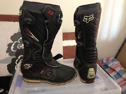 Fox F3 MX motocross boots sz1O