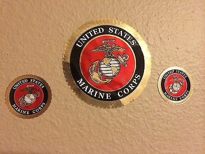 USMC Decal Set of 3 Stickers