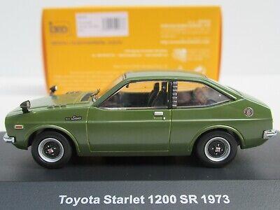 IXO, TOYOTA STARLET 1200 ST (1973) in OLIVE GREEN, RHD, 1:43 Scale, NEW, #KBI053