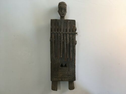 African Kalimba Hand Made Musical Instrument Carved Wood
