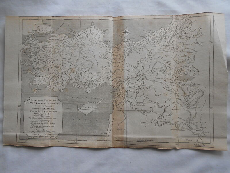 RARE ANTIQUE ANCIENT HISTORY MAP-MADE BY MR.D