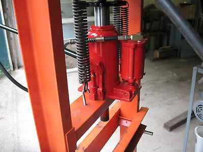 20 Ton Shop Press Upgrade Adds Air Hydraulic Speed Steel 7 X 7 X-bar Plates