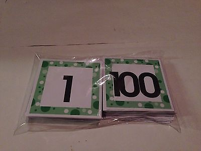 Order Number (0-100 NUMBER ORDER TILES - Laminated Cards Set Preschool )