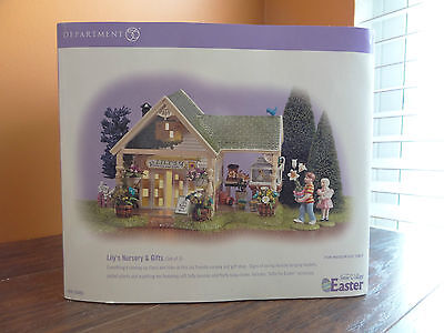 Dept 56 55095 Lily Nursery & Gifts Flower Shop Store Easter Bunny
