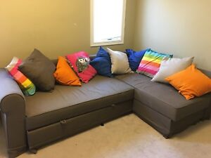IKEA corner sofa bed / sectional couch in Grey