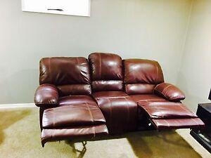 Bonded leather sofa