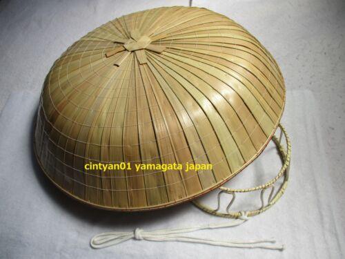 NEW Japan NInja Samurai Hat Edo Travel Cosplay Natural Bamboo . SANDOGASA 03.