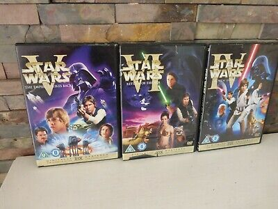 STAR WARS TRILOGY (HOPE / EMPIRE / JEDI) DVD - MASTERED ***PLEASE READ.