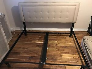 King Bed Headboard and Metal Frame