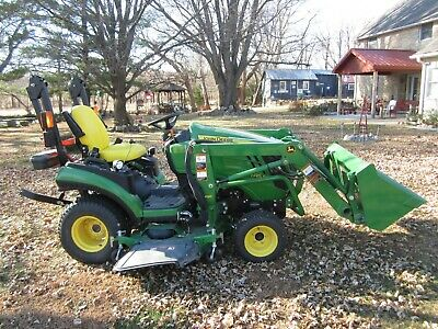 John Deere Compact Tractor With Loader 60 Auto-connect Mower- 4 Hours Of Use