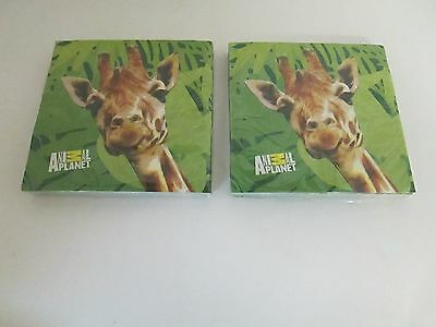 Animal Party Supplies (Animal Planet Party Giraffe Luncheon Napkins 16 pk - Lot of 2 -- Party)