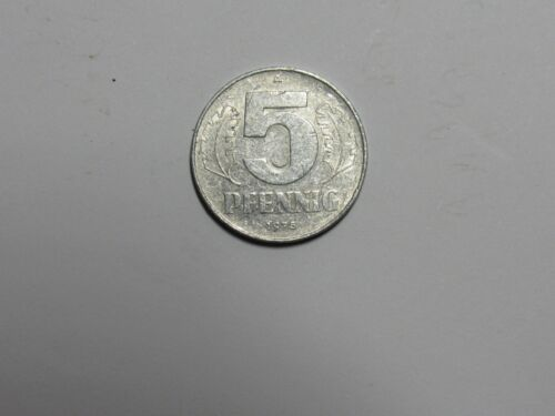 Old East Germany Coin - 1975 A 5 Pfennig - Circulated