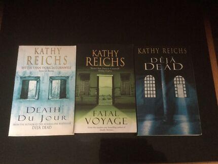Kathy Reichs.     Death Du Jour,  Fatal Voyage,  Déjà Dead