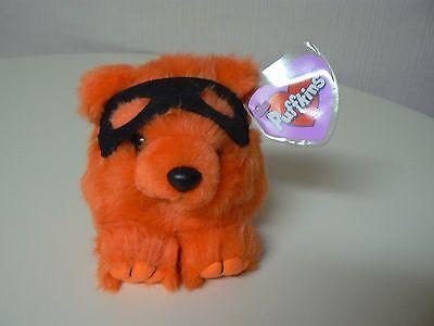 Puffkins Plush TRICK Orange Bear Blk Mask #6697 SWIBCO Birthdate 10-31-99 NWT LE