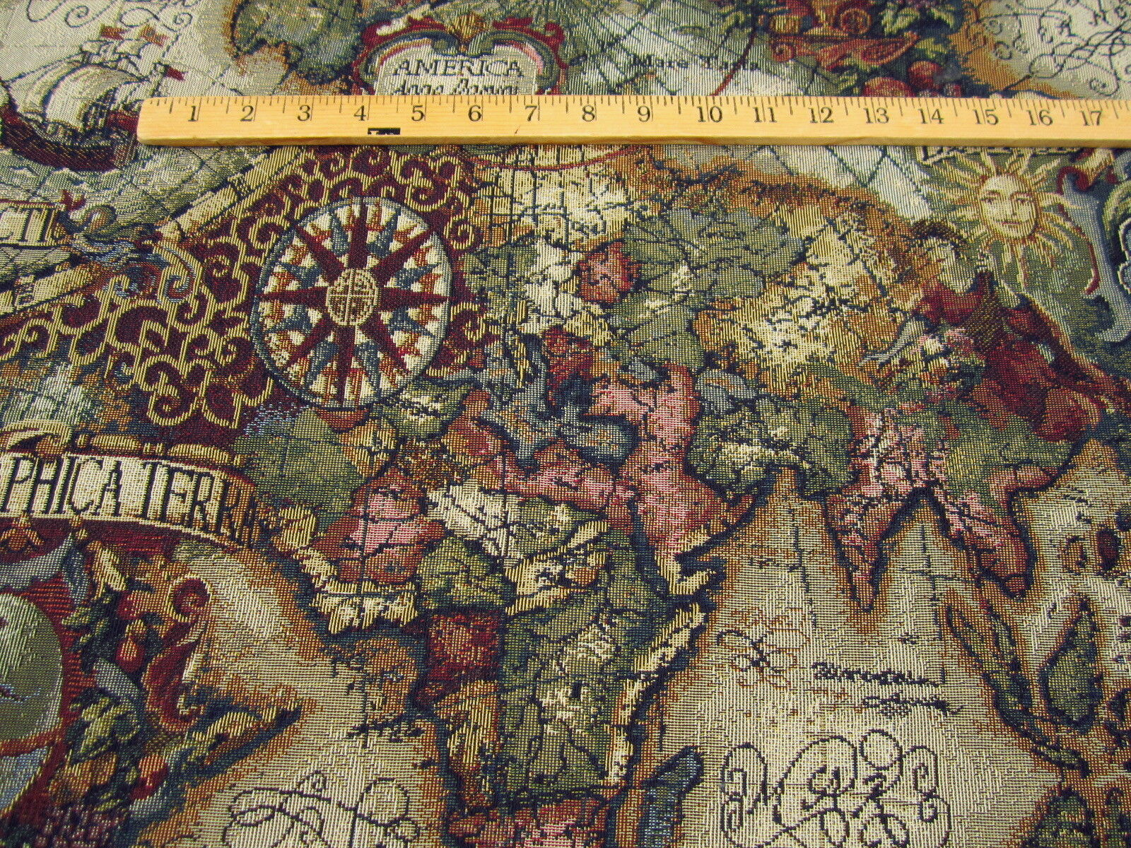 Magellan old world map tapestry upholstery fabric color jewel ft706 magellan old world map tapestry upholstery fabric color jewel ft706 gumiabroncs Choice Image