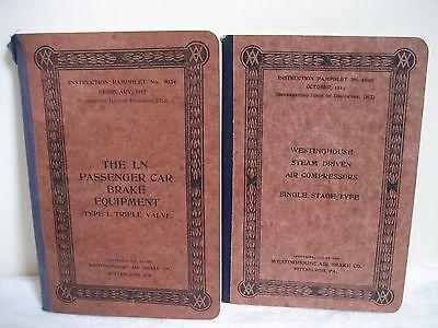 Antique Westinghouse Instruction Booklets Car Brakes 1917 Air Comp  1914