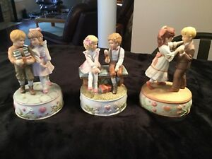 Treasured Memories Musical Figurines (3)