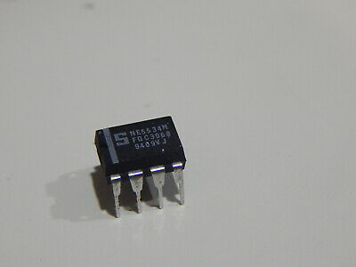 Signetics Ne5534n Ic Op Amp Sgl Low Noise 8 Pin Dip Ic - Usa Fast Shipping