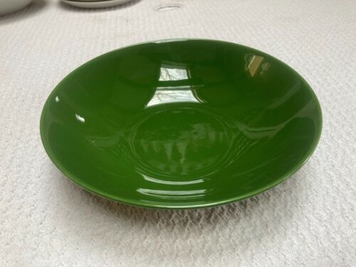 "Vintage Homer Laughlin Rhythm Forest Green 9"" Nappy Bowl Excellent!"