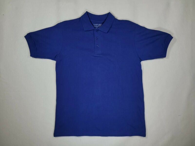 Boys Blue Polo Short Sleeve Pique Knit Authentic Galaxy School Uniform