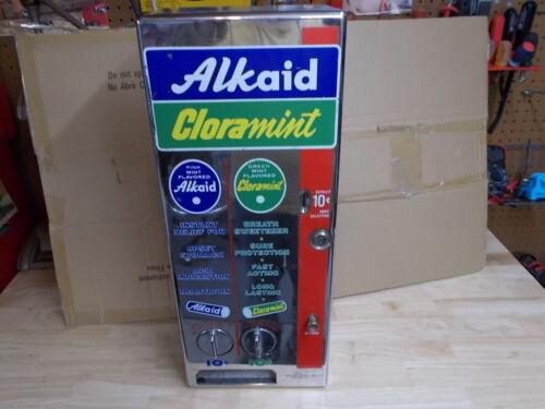 Vintage Alkaid & Cloramint Mint Vending Machine Coin-Op Dispenser PRICE DROP