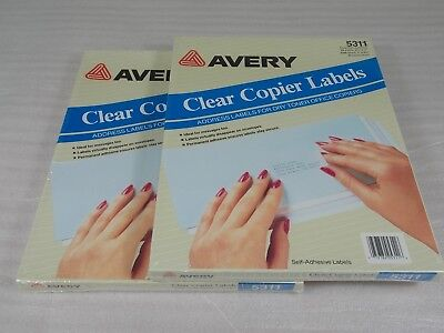 2 Boxes Avery 5311 Clear Laser Address Labels 1x2 342310 Labels Box