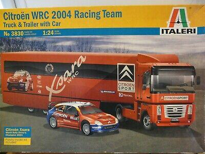 Maquette Camion 1/24 ITALERI Citroën WRC 2004 Racing Team TT with Car Ref 3830